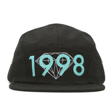 Load image into Gallery viewer, Diamond 1998 black 5 panel cap