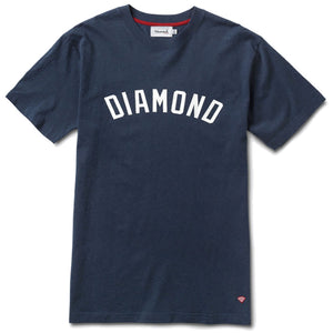 Diamond Arch heather navy T shirt