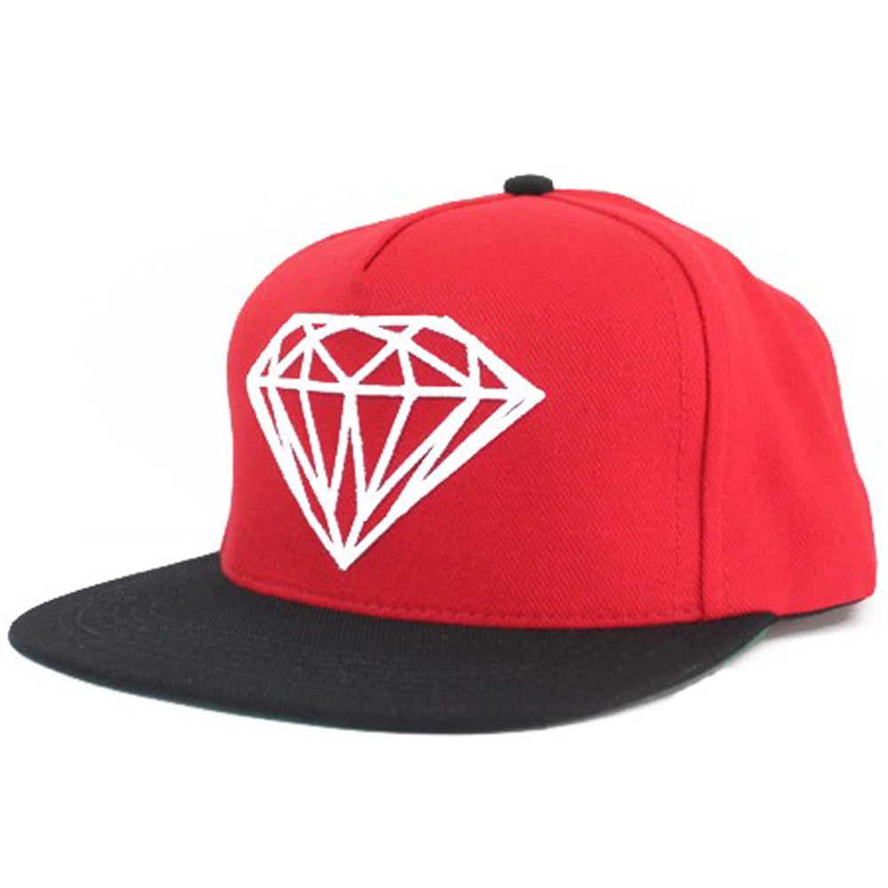 Diamond Brilliant red/black/white snapback cap