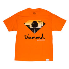 Load image into Gallery viewer, Diamond Cable Car orange T shirt
