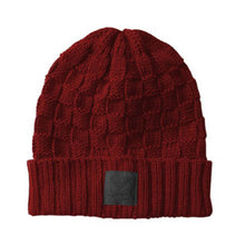 Load image into Gallery viewer, Diamond Checker Fold Red/Black Beanie