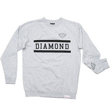 Load image into Gallery viewer, Diamond Collegiate grey crew