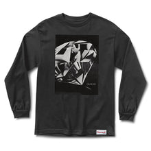 Load image into Gallery viewer, Diamond Cut black long sleeve T shirt