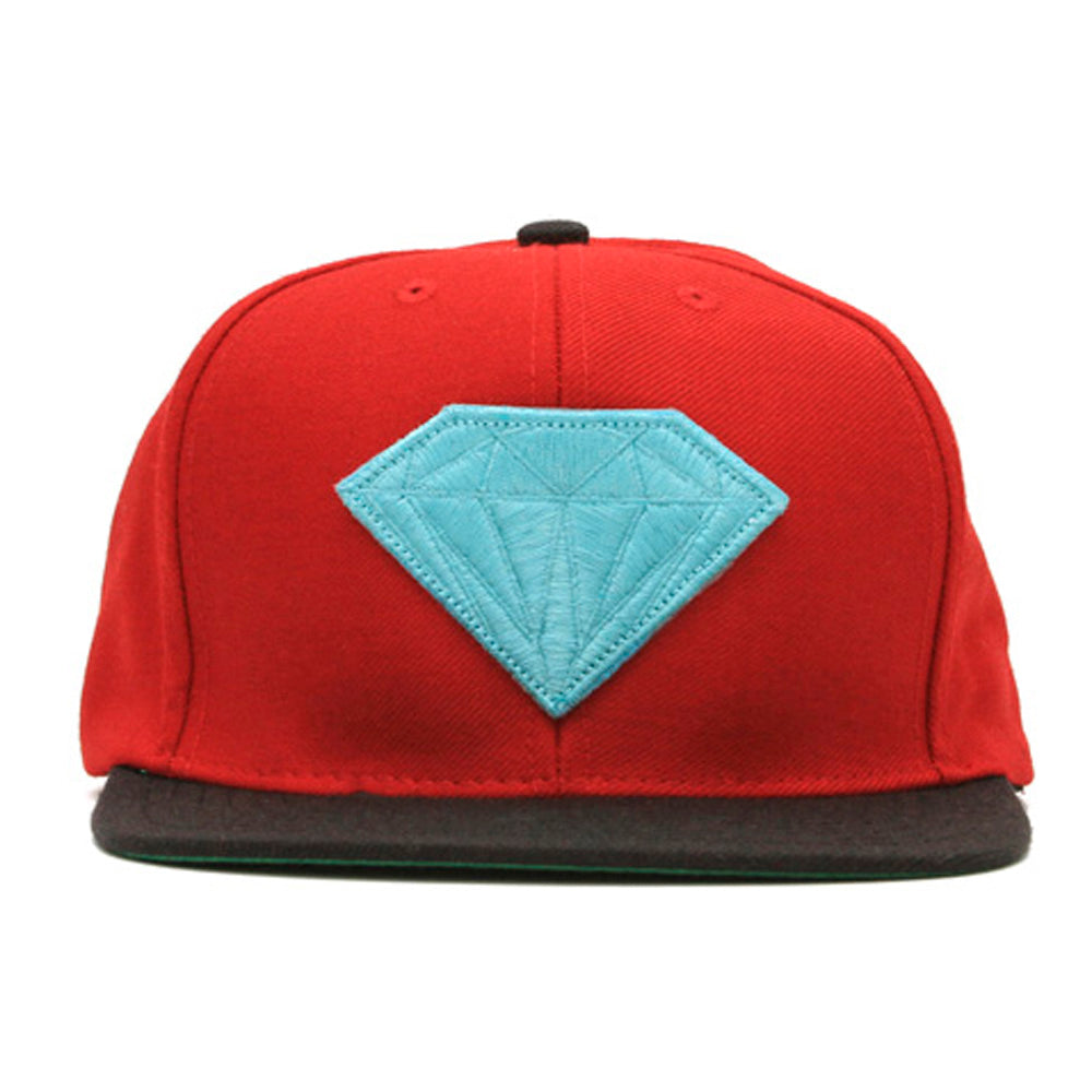 Diamond Emblem red/black snapback cap