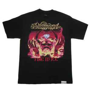Diamond Fire In Ice black T shirt