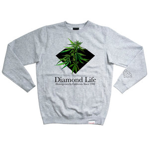 Diamond Homegrown heather crew
