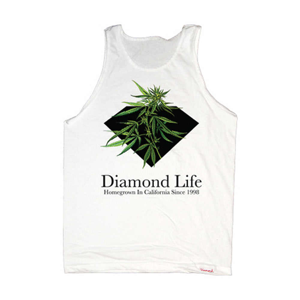 Diamond Homegrown white tank top shirt