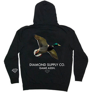 Diamond Game Assn Black Zip Hoodie