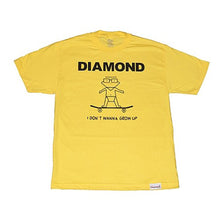 Load image into Gallery viewer, Diamond I Don't Wanna Grow Up yellow T shirt