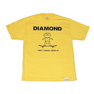 Diamond I Don't Wanna Grow Up yellow T shirt