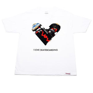 Diamond I Love Skateboarding white T shirt