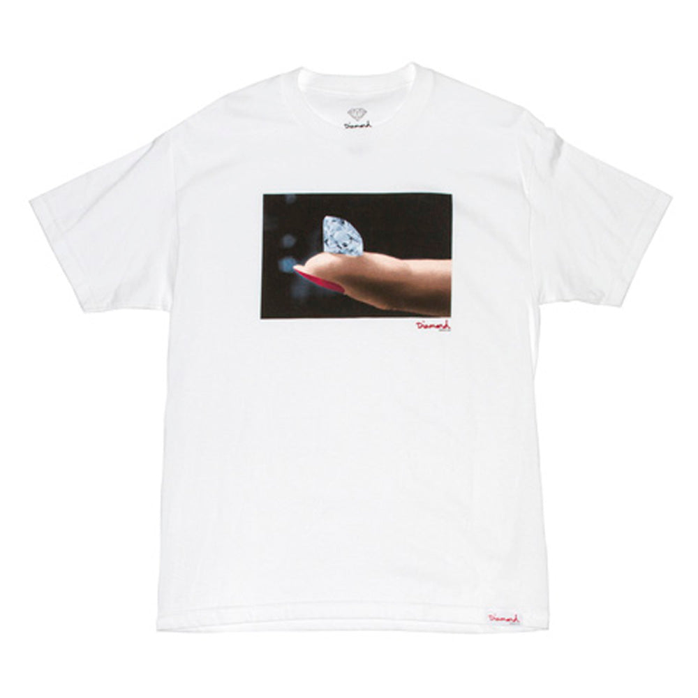 Diamond Imprint white T shirt