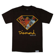Load image into Gallery viewer, Diamond Jah Warrior brown T shirt