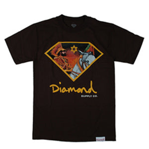 Diamond Jah Warrior brown T shirt