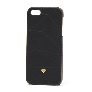 Diamond Leather iPhone 5 Snap On black case
