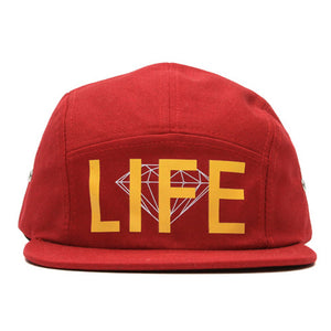 Diamond Life burgundy 5 panel cap