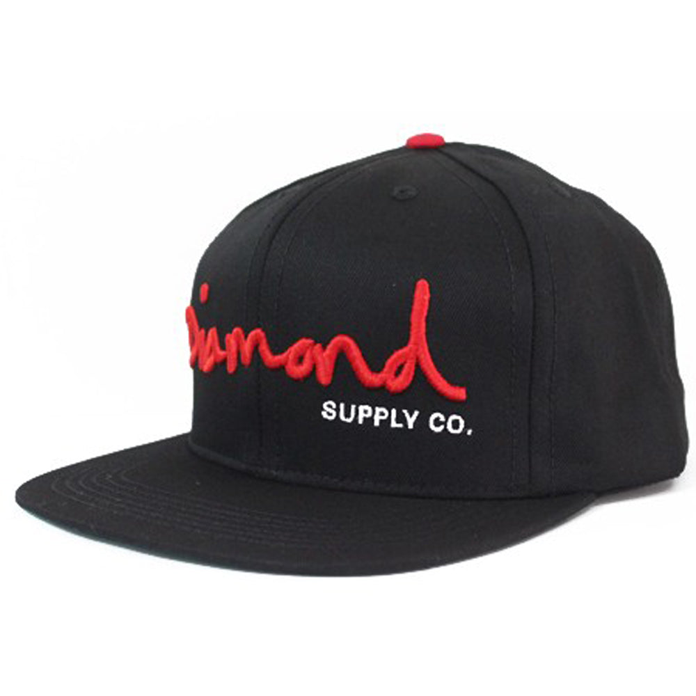 Diamond OG Logo black/red snapback cap