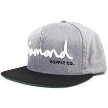 Load image into Gallery viewer, Diamond OG Logo charcoal/black snapback cap