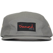 Load image into Gallery viewer, Diamond OG Script Grey 5 Panel Hat
