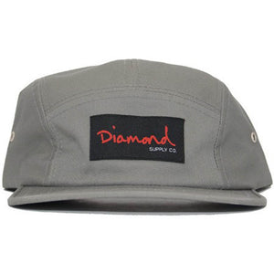 Diamond OG Script Grey 5 Panel Hat