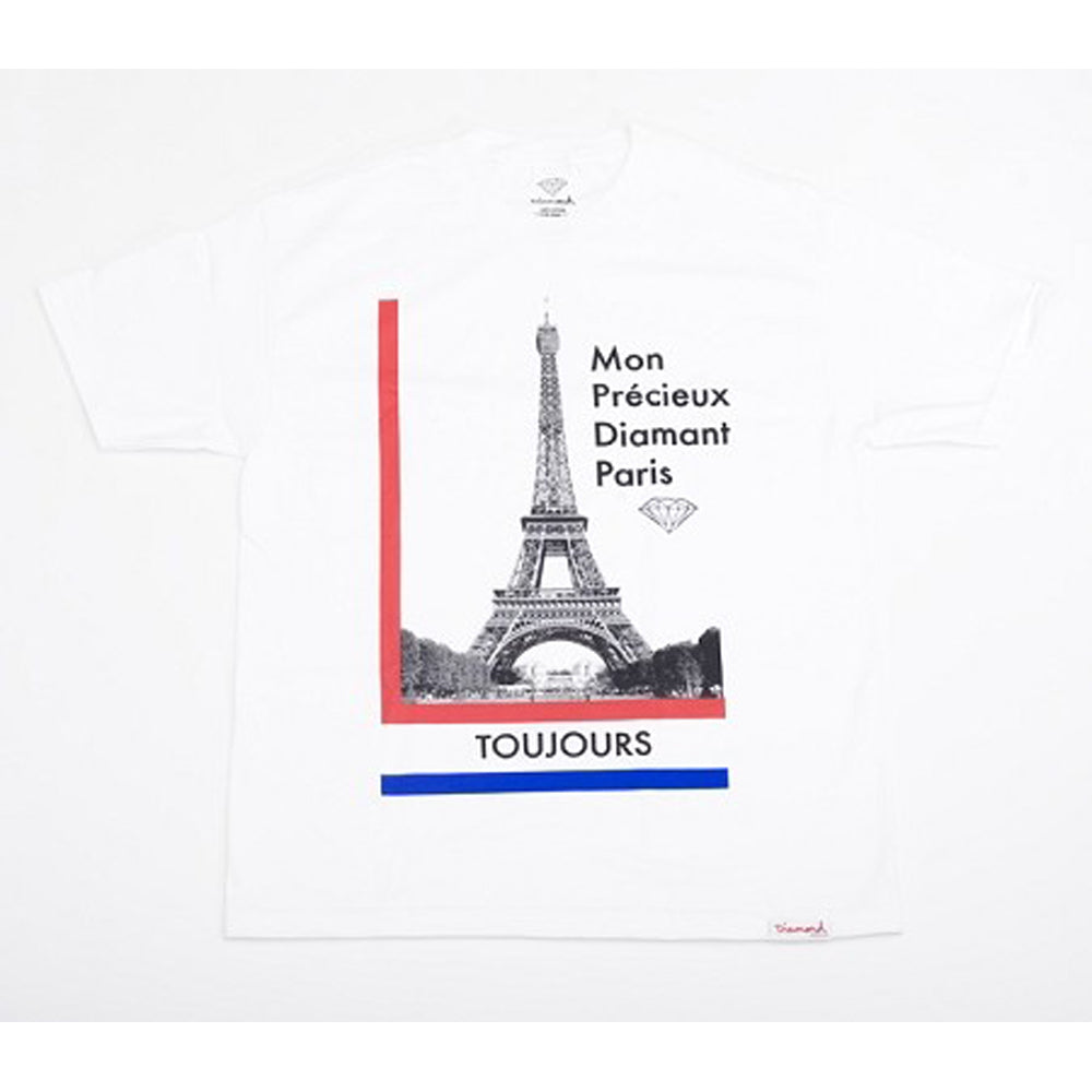 Diamond Precious Paris white T shirt
