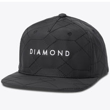 Load image into Gallery viewer, Diamond Stone Cut Quilted black snapback cap