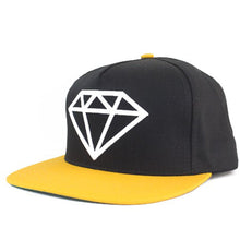 Load image into Gallery viewer, Diamond Rock black/white/yellow snapback cap