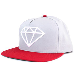 Diamond Rock grey/white/red snapback cap