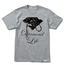 Load image into Gallery viewer, Diamond Rose Brilliant heather grey T shirt