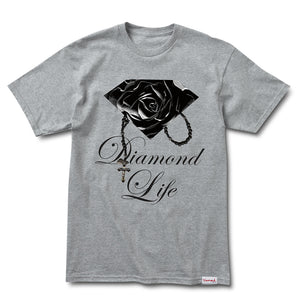 Diamond Rose Brilliant heather grey T shirt