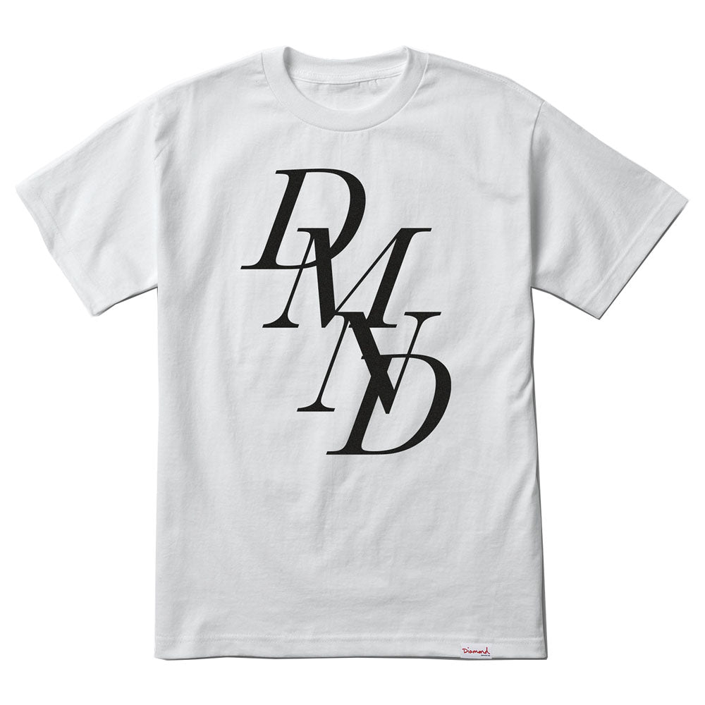 Diamond Serif white T shirt