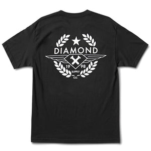 Diamond Shine Crest black T shirt