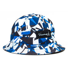 Load image into Gallery viewer, Diamond Simplicity blue bucket hat