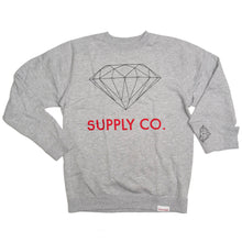 Load image into Gallery viewer, Diamond Supply Co heather grey crew