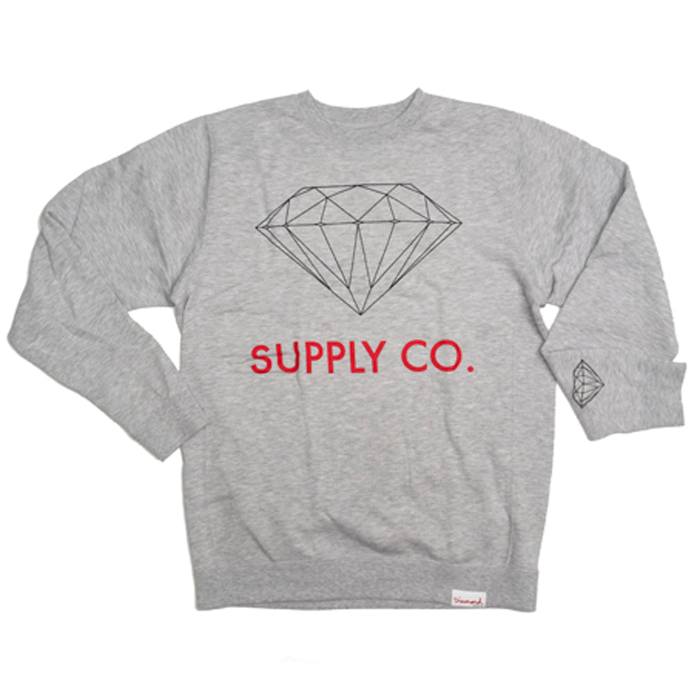 Diamond Supply Co heather grey crew