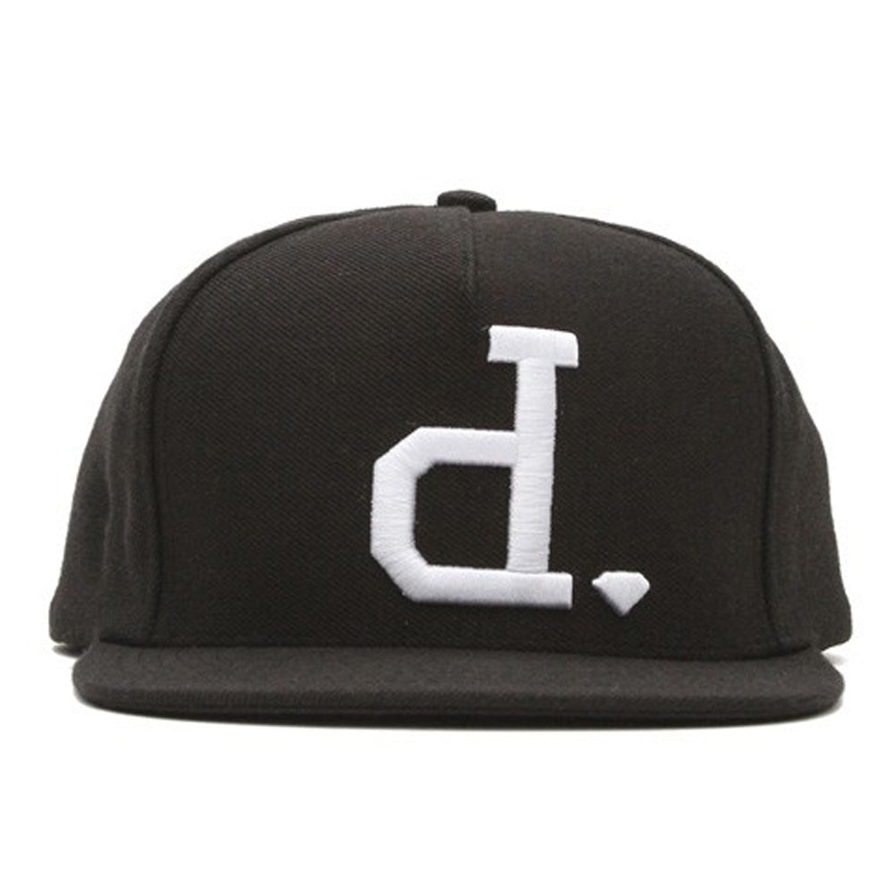 Diamond Un-Polo black/white snapback cap