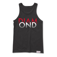 Load image into Gallery viewer, Diamond White Sands black tank top