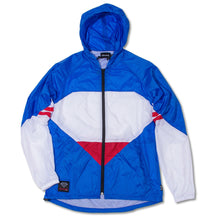 Load image into Gallery viewer, Diamond blue/white/red windbreaker