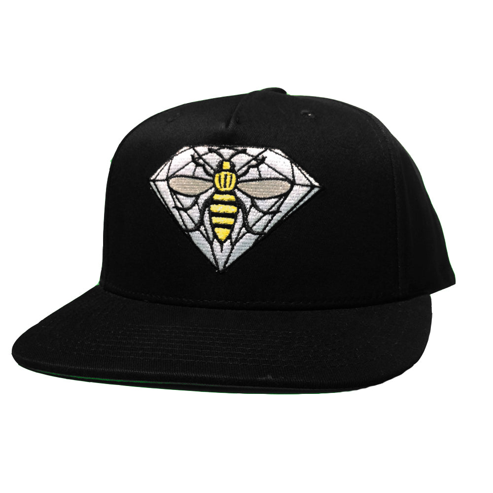 Diamond x NOTE black snapback cap