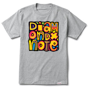 Diamond x NOTE For Luck heather grey T shirt