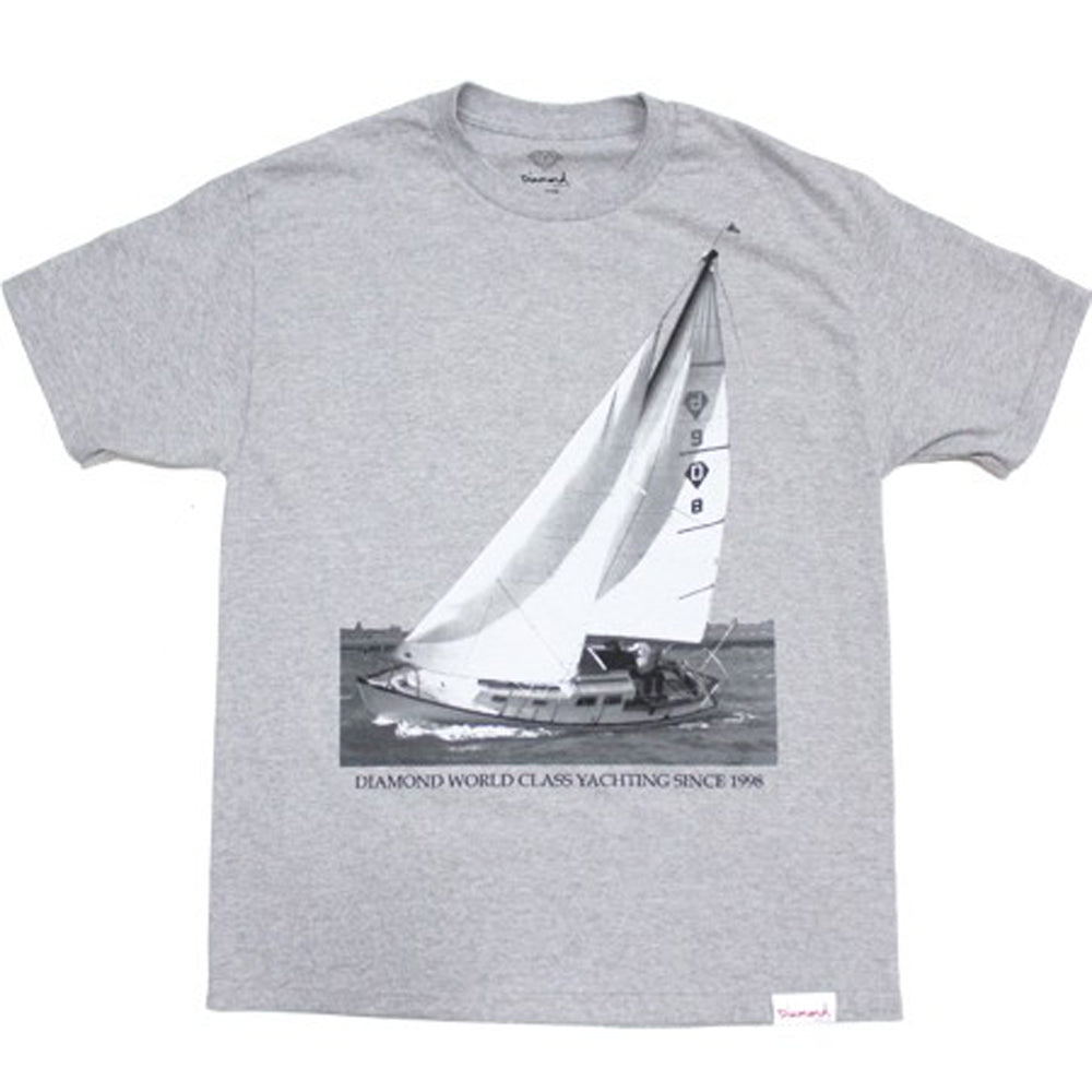 Diamond Yachting heather grey T shirt