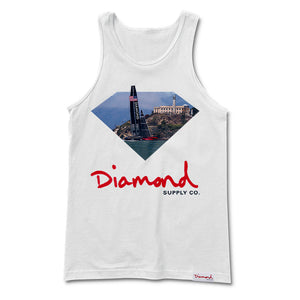 Diamond YCSF white tank top