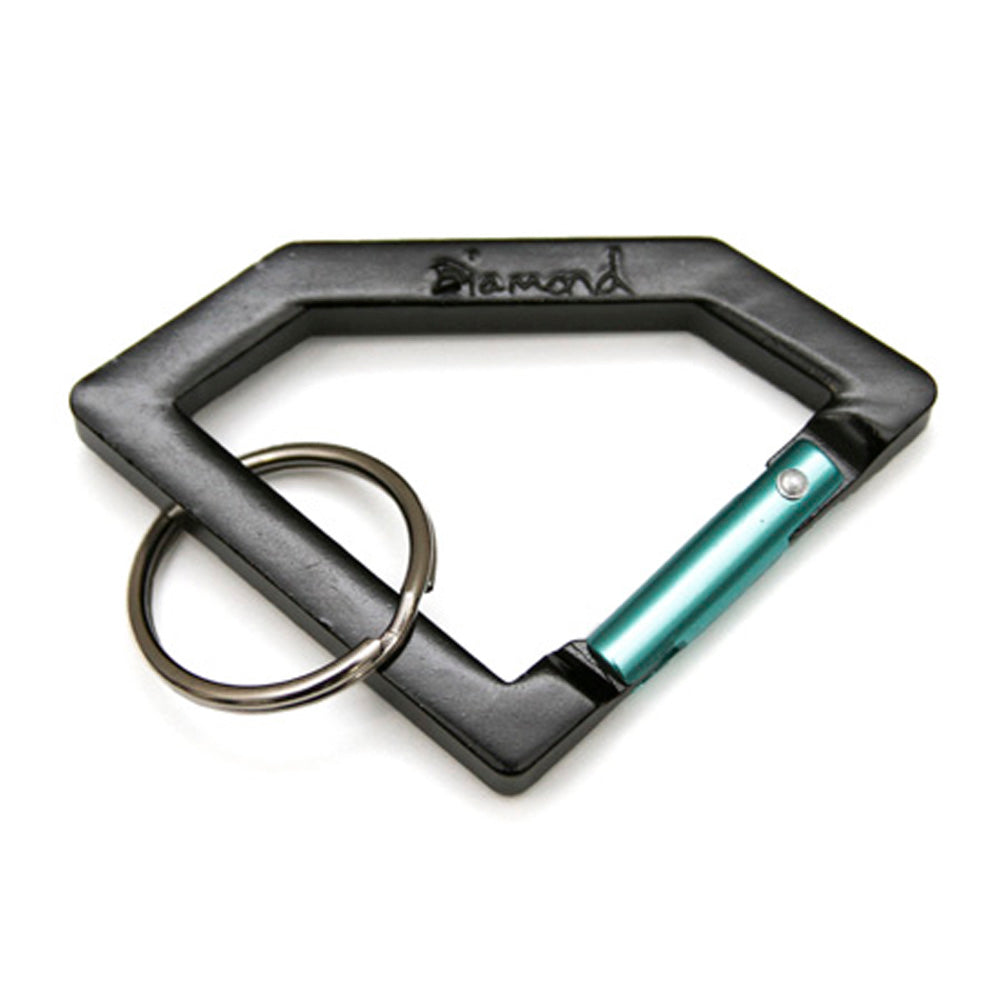 Diamond Carabiner black/diamond blue key ring