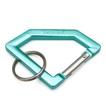 Load image into Gallery viewer, Diamond Carabiner diamond blue/silver key ring