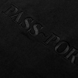 Pass Port Official Embroidery black T shirt