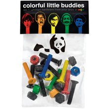 "Load image into Gallery viewer, Enjoi Colorful Little Buddies 7/8"" allen bolts"