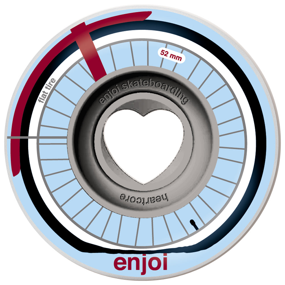 Enjoi Flat Tire Heart Core 52mm wheels