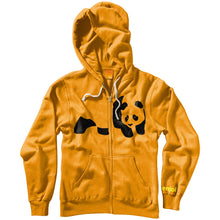 Load image into Gallery viewer, Enjoi Fuzzy Panda tangerine zip hood
