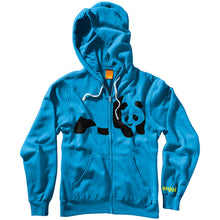 Load image into Gallery viewer, Enjoi Fuzzy Panda turquoise zip hood