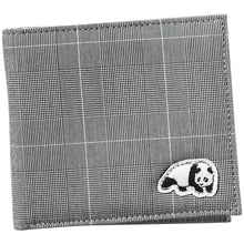 Load image into Gallery viewer, Enjoi Panda plaid grey wallet